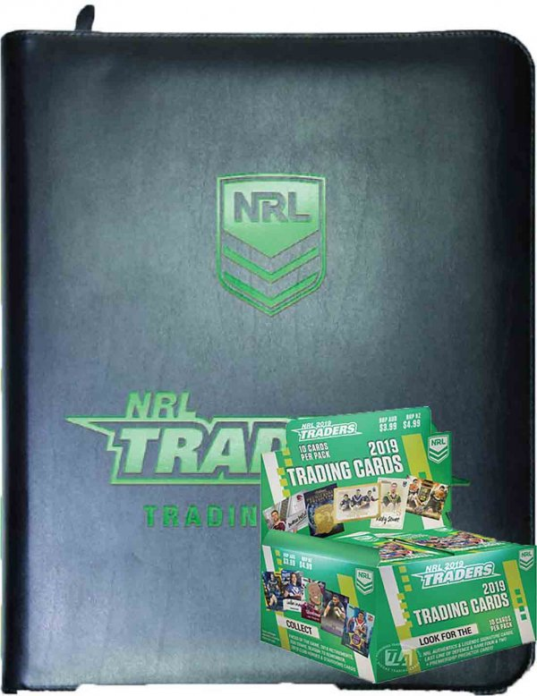 2019 TLA NRL Traders Factory Sealed Box + Album Combo