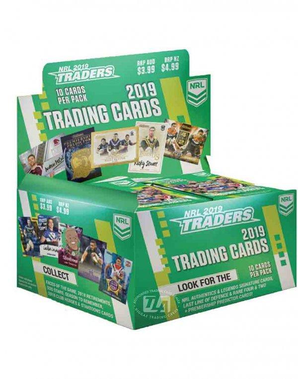 2019 TLA NRL Traders New Sealed Trading Card Box
