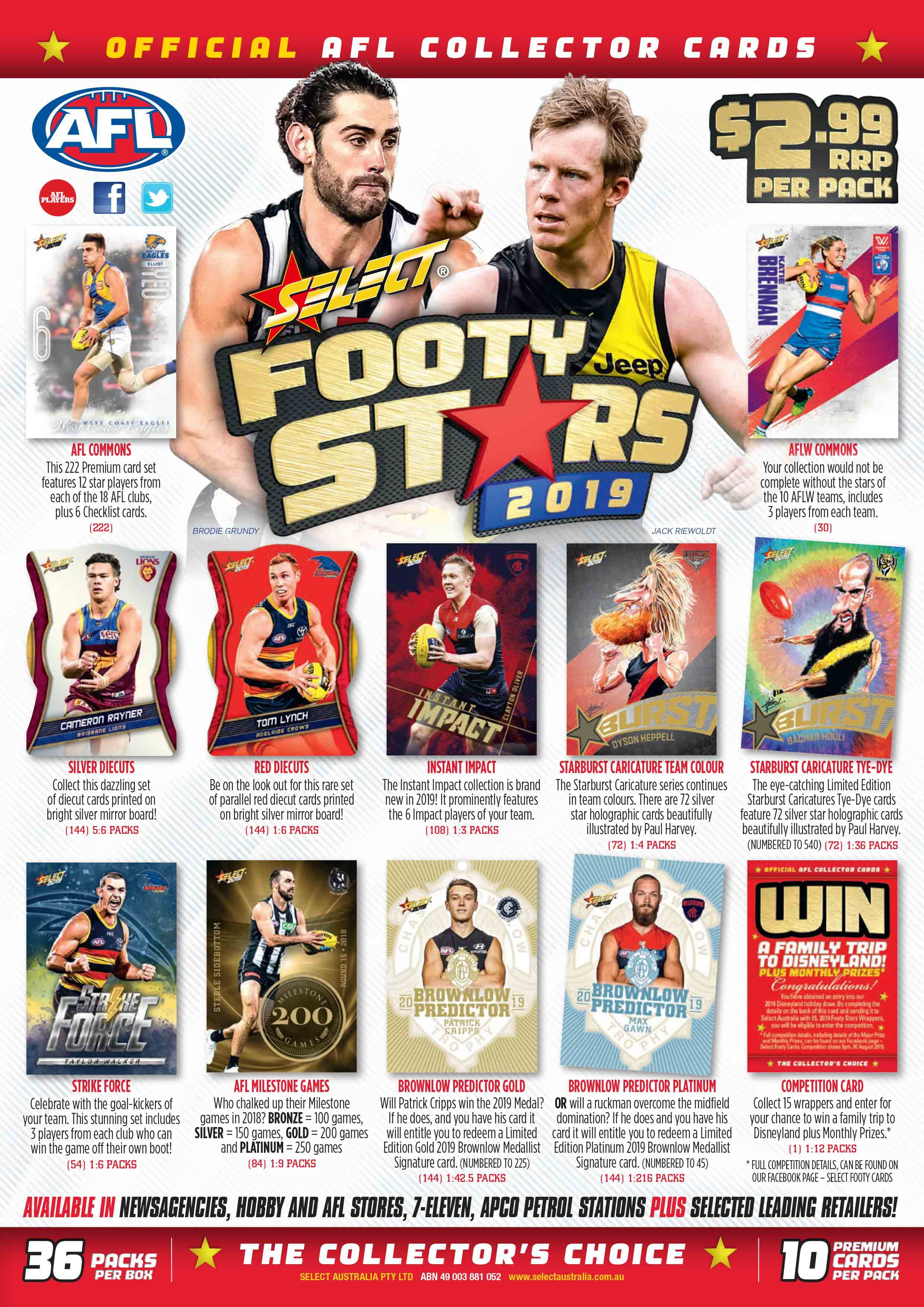 2019 AFL Footy Stars Sales Flyer