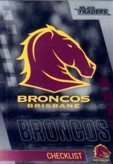 2019 NRL Traders Platinum Parallel PS1 Broncos Checklist