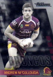 2019 NRL Traders Platinum Parallel PS6 Andrew McCullough Broncos