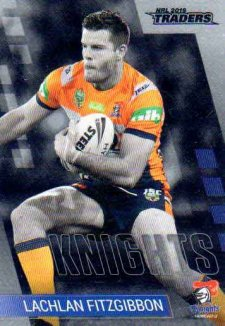 2019 NRL Traders Platinum Parallel PS74 Lachlan Fitzgibbon Knights