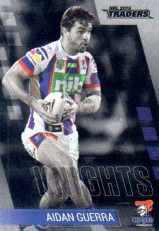 2019 NRL Traders Platinum Parallel PS75 Aidan Guerra Knights