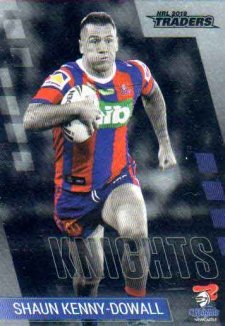2019 NRL Traders Platinum Parallel PS76 Shaun Kenny-Dowall Knights