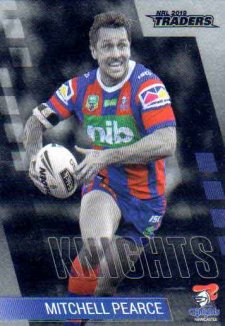 2019 NRL Traders Platinum Parallel PS77 Mitchell Pearce Knights