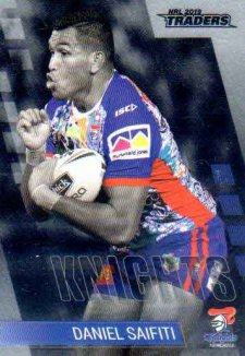 2019 NRL Traders Platinum Parallel PS79 Daniel Saifiti Knights