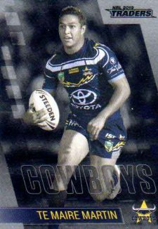 2019 NRL Traders Platinum Parallel PS86 Te Maire Martin Cowboys
