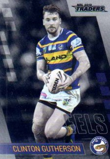 2019 NRL Traders Platinum Parallel PS95 Clinton Gutherson Eels