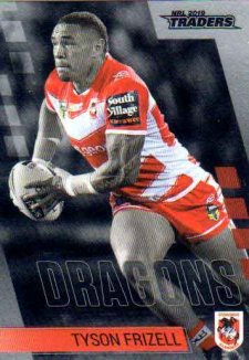 2019 NRL Traders Platinum Parallel PS124 Tyson Frizell Dragons