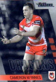 2019 NRL Traders Platinum Parallel PS127 Cameron McInnes Dragons
