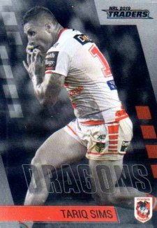 2019 NRL Traders Platinum Parallel PS128 Tariq Sims Dragons