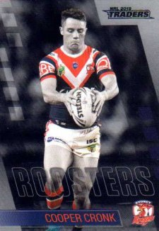 2019 NRL Traders Platinum Parallel PS133 Cooper Cronk Roosters