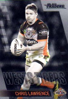 2019 NRL Traders Platinum Parallel PS153 Chris Lawrence Tigers