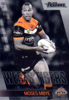 2019 NRL Traders Platinum Parallel PS156 Moses Mbye Tigers