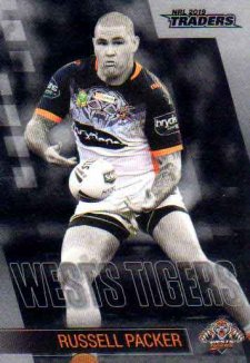 2019 NRL Traders Platinum Parallel PS157 Russell Packer Tigers
