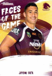 2019 NRL Traders Faces of the Game FG4 Jaydn Su'A Broncos