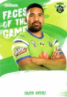 2019 NRL Traders Faces of the Game FG6 Siliva Havili Raiders