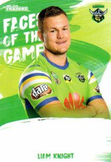2019 NRL Traders Faces of the Game FG7 Liam Knight Raiders