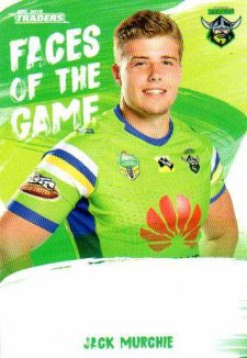 2019 NRL Traders Faces of the Game FG8 Jack Murchie Raiders