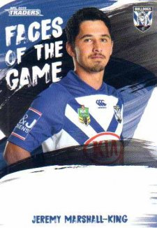 2019 NRL Traders Faces of the Game FG10 Jeremy Marshall-King Bulldogs