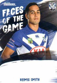2019 NRL Traders Faces of the Game FG12 Reimis Smith Bulldogs