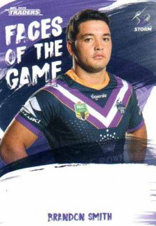 2019 NRL Traders Faces of the Game FG27 Brandon Smith Storm
