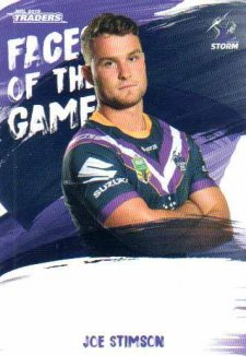 2019 NRL Traders Faces of the Game FG28 Joe Stimson Storm