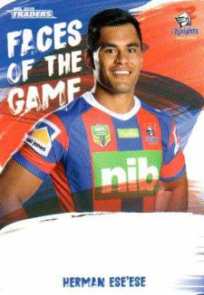 2019 NRL Traders Faces of the Game FG29 Herman Ese'ese Knights