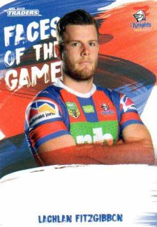 2019 NRL Traders Faces of the Game FG30 Lachlan Fitzgibbon Knights