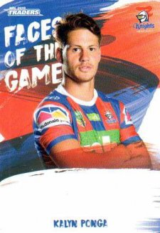 2019 NRL Traders Faces of the Game FG31 Kalyn Ponga Knights