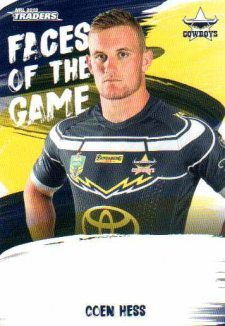 2019 NRL Traders Faces of the Game FG35 Coen Hess Cowboys