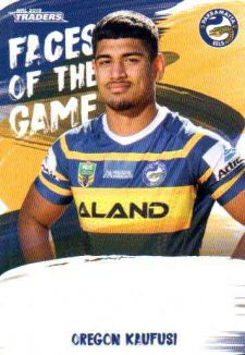 2019 NRL Traders Faces of the Game FG37 Oregon Kaufusi Eels