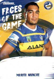 2019 NRL Traders Faces of the Game FG39 Marata Niukore Eels