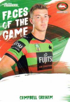 2019 NRL Traders Faces of the Game FG47 Campbell Graham Rabbitohs