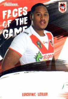 2019 NRL Traders Faces of the Game FG49 Luciano Leilua Dragons