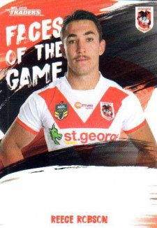 2019 NRL Traders Faces of the Game FG52 Reece Robson Dragons