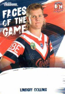 2019 NRL Traders Faces of the Game FG53 Lindsay Collins Roosters