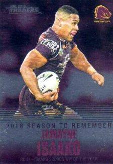 2019 NRL Traders Season to Remember SR2 Jamayne Isaako Broncos