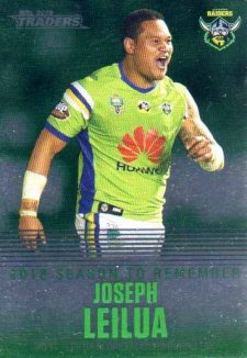 2019 NRL Traders Season to Remember SR6 Joseph Leilua Raiders