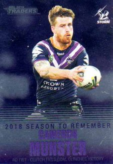 2019 NRL Traders Season to Remember SR19 Cameron Munster Storm