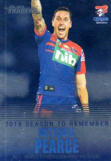 2019 NRL Traders Season to Remember SR22 Mitchell Pearce Knights