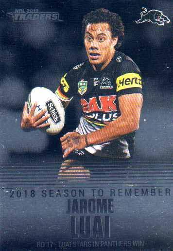 Jarome LUAI Panthers 2019 Nrl Traders Season To Remember SR32