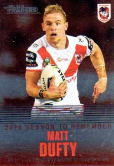 2019 NRL Traders Season to Remember SR39 Mat Dufty Dragons