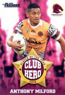 2019 NRL Traders Club Hero CH1 Anthony Milford Broncos