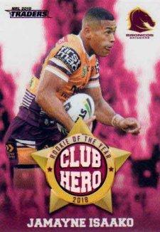 2019 NRL Traders Club Hero CH2 Jamayne Isaako Broncos