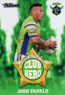 2019 NRL Traders Club Hero CH3 Josh Papalii Raiders