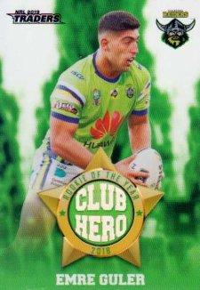 2019 NRL Traders Club Hero CH4 Emre Guler Raiders