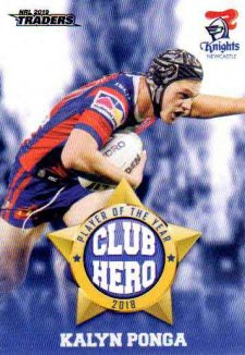 2019 NRL Traders Club Hero CH15 Kalyn Ponga Knights
