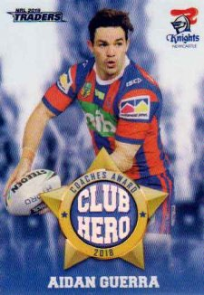 2019 NRL Traders Club Hero CH16 Aidan Guerra Knights