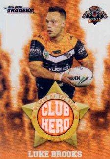 2019 NRL Traders Club Hero CH31 Luke Brooks Tigers